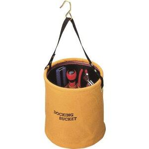 ■コヅチ 10号(ブラウン)防水帆布 ドッキングバケット240パイ〔品番:KBD-24BBR〕[TR-2160516][送料別途見積り][法人・事業所限定][外直送]