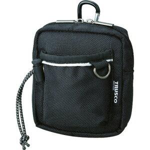 ■TRUSCO コンパクトツールケース ワイドポケット ブラック〔品番:TCTC1502-BK〕[TR-3655903]