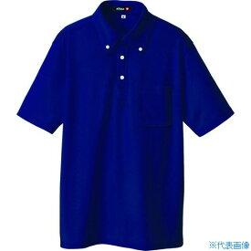 ■アイトス ボタンダウン半袖ポロシャツ ネイビー L〔品番:10599-008-L〕[TR-4141792]