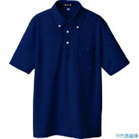 ■アイトス ボタンダウン半袖ポロシャツ ネイビー S〔品番:10599-008-S〕[TR-4141822]