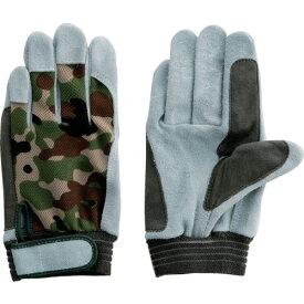 ■富士グローブ 牛床革手袋 JS-128L ジャストオイル甲メリマジック〔品番:5343〕[TR-4227221]