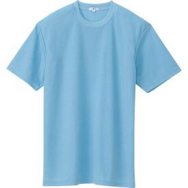 ■アイトス 吸汗速乾クールコンフォート 半袖Tシャツ男女兼用 サックス LL〔品番:AZ-10574-007-LL〕[TR-4490371]