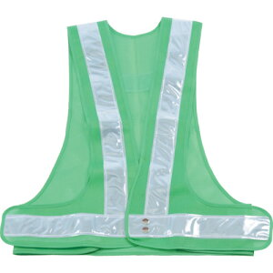 ■TRUSCO 安全ベスト 緑地X反射材シルバー 〔品番:TKA-370〕[TR-7647093]