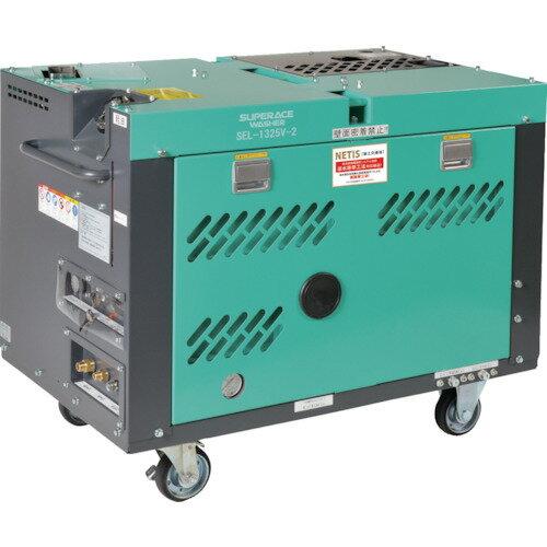 ■スーパー工業 ディーゼルエンジン式高圧洗浄機SEL-1325V2(防音温水型)〔品番:SEL-1325V-2〕[TR-7879016]【重量物・個人宅配送不可】