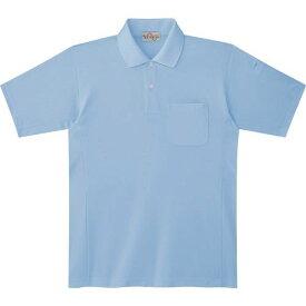 ■ミドリ安全 エコ帯電防止 半袖ポロシャツ サックス S 〔品番:PS12-UE-S〕[TR-7978049]