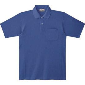 ■ミドリ安全 エコ帯電防止 半袖ポロシャツ ロイヤルブルー M 〔品番:PS13-UE-M〕[TR-7978111]