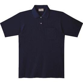 ■ミドリ安全 エコ帯電防止 半袖ポロシャツ ネイビー S 〔品番:PS17-UE-S〕[TR-7978201]