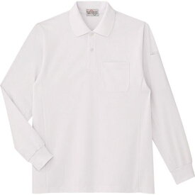 ■ミドリ安全 エコ帯電防止 長袖ポロシャツ ホワイト SS 〔品番:PS210-UE-SS〕[TR-7978294]