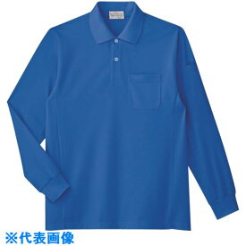 ■ミドリ安全 エコ帯電防止 長袖ポロシャツ ロイヤルブルー S 〔品番:PS213-UE-S〕[TR-7978448]