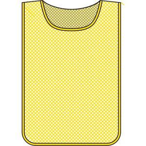 ■緑十字 メッシュ製安全ベスト(ゼッケン)黄無地タイプ 600×440MM〔品番:320012〕[TR-8151592][送料別途見積り][法人・事業所限定][掲外取寄]