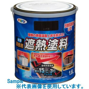 ■アサヒペン 水性屋根用遮熱塗料1.6L スカイブルー 6缶入〔品番:438324〕[〕[TR-8248845×6][送料別途見積り][法人・事業所限定][掲外取寄]