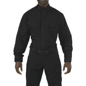 ■5.11 ストライク TDU 長袖シャツ ブラック XS〔品番:72416-019-XS〕[TR-8369430]