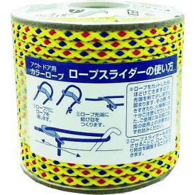 ■ユタカメイク アウトドア用カラーロープ イエロー 3.5mm×20m〔品番:ROC-10〕[TR-8556034]