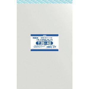 ■HEIKO OPP袋 テープ付き クリスタルパック T26−40[品番:6741100 T26-40][TR-8562739]