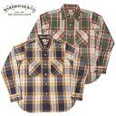 ウエアハウス WAREHOUSE ネルシャツ Lot 3104 FLANNEL SHIRTS E柄 ONE WASH メンズ 長袖 緑 紺 36-42