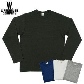 ウエアハウス WAREHOUSE Tシャツ Lot 5906 長袖クルーネックT メンズ 無地 黒/白 S-L