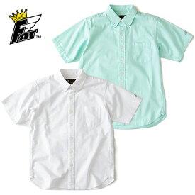 FAT エフエーティー シャツ SUMMER 白/緑 M-XL 無地 半袖シャツ F31810-SH06