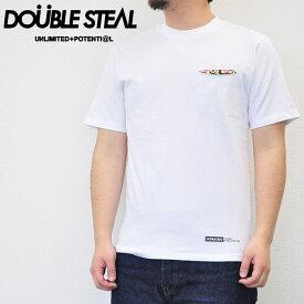 ダブルスティール Tシャツ DOUBLE STEAL Bandana Piping Tee 半袖 白 ホワイト M-XL ストリート 981-16002