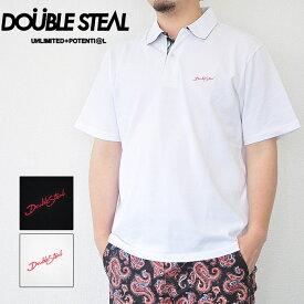DOUBLE STEAL ダブルスティール ポロシャツ Pripera Aloha Polo 半袖 白 黒 M-XL Tシャツ メンズ ストリート 982-27201
