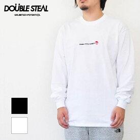 ダブルスティール DOUBLE STEAL Tシャツ Simple Stick DOU embroidery 長袖Tシャツ メンズ 黒/白 ロゴ 984-12208