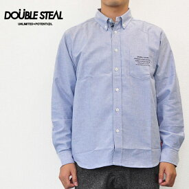 ダブルスティール DOUBLE STEAL シャツ PARTS BANDANA B.D 長袖シャツ ブルー M-XL 785-35008