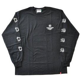 ダブルスティール DOUBLE STEAL Tシャツ ARM PRINT DOU L/S TEE 黒/白 M-XL メンズ 984-14218