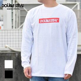 DOUBLE STEAL ダブルスティール 長袖Tシャツ BOX LOGO L/S T-Shirt メンズ 黒 白 934-14071