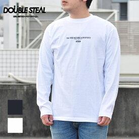 ダブルスティール DOUBLE STEAL Tシャツ BACK BOX LOGO 長袖Tシャツ メンズ 黒/白 ロゴ 991-14011