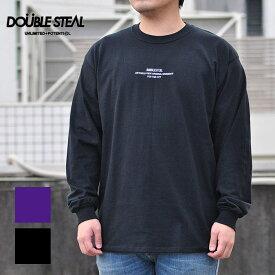 ダブルスティール DOUBLE STEAL Tシャツ Basic Type2 Embroidery 長袖Tシャツ メンズ 黒/紫 ロゴ 991-12201