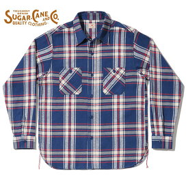 SUGAR CANE シュガーケーン ネルシャツ SC28746 TWILL CHECK WORK SHIRT ツイルチェックワークシャツ メンズ 長袖