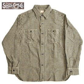 シュガーケーン ネルシャツ ツイルチェックワークシャツ SC28229 ベージュ S-L チェックシャツ SUGAR CANE