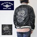 フラットヘッド THE FLAT HEAD SATIN JACKET SKULL スカジャン メンズ 黒 CL-OJ002