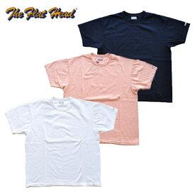 フラットヘッド THE FLAT HEAD Tシャツ THC-201 THC 白/紺/ピンク 40-42 無地 アメカジ