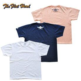 フラットヘッド THE FLAT HEAD Tシャツ THC-203 SMALL FLYING WHEEL 白/紺/ピンク 40-42 アメカジ