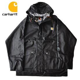 カーハート ジャケット Midweight Waterproof Rainstorm Jacket レインコートS-L 黒 carhartt 103508