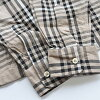 SHARKEY'S Sharkey's shirt long sleeves 29019 chest men check shirt M-L is beige