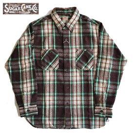SUGAR CANE シュガーケーン ネルシャツ TWILL CHECK L/S WORK SHIRT 長袖シャツ ワークシャツ メンズ S-L SC28501