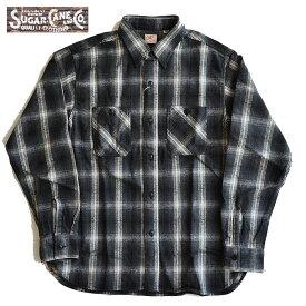 SUGAR CANE シュガーケーン ネルシャツ TWILL CHECK L/S WORK SHIRT 長袖シャツ メンズ S-L SC28500