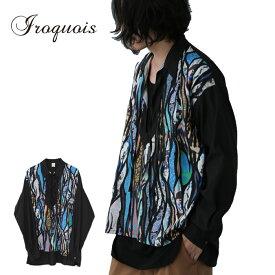 イロコイ シャツ DEADHEADS P/O SH プルオーバーシャツ S サイズ1 青 赤 380103 Iroquois