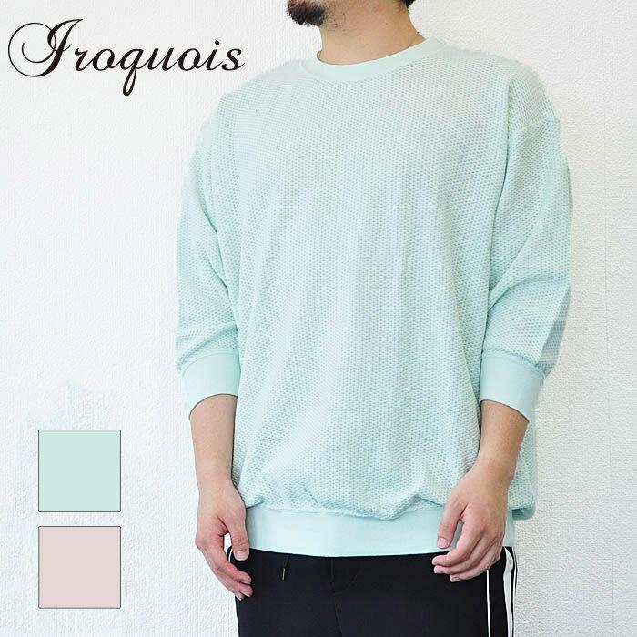 Iroquois イロコイ Tシャツ 30/2 PARALLELED YARN ピンク 緑 メンズ S-M 182112