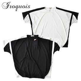 Iroquois イロコイ Tシャツ T/R TRACK CUT&SEWN カットソー 白/黒 S-M トップス 181115