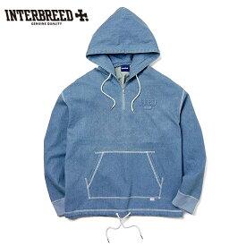 インターブリード INTERBREED パーカー Stitched Denim Hoodie デニム M-XL ストリート IB19AW-08