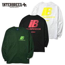 インターブリード INTERBREED Tシャツ Rebellion LS Tee ロンT M-2XL 黒 グレー 緑 IB19AW-20 ストリート