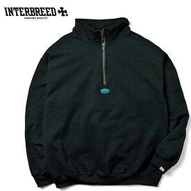 インターブリード INTERBREED スウェット Hikers Half Zip Sweat ハーフジップ M-XL 黒 ストリート IB19AW-32