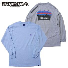 インターブリード INTERBREED Tシャツ Plastic LS Tee ロンT 長袖 M-XL 青 グレー IB20SS-09 ストリート