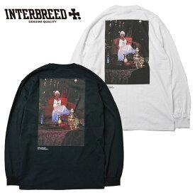 インターブリード Tシャツ Ernie Paniccioli for INTERBREED Queen L.Boogie LS Tee ロンT 長袖 M-XL 白 黒 IB20SS-15 ストリート
