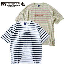 インターブリード INTERBREED Tシャツ Logo Border SS Tee M-XL ボーダー ロゴ IB20SS-20 ストリート