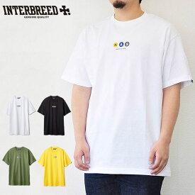 """インターブリード INTERBREED Tシャツ """"NAS"""" LINE SS TEE """"RZA"""" LINE SS TEE メンズ 白/緑/黒/黄 M-XL IB18SS-41 IB18SS-42"""