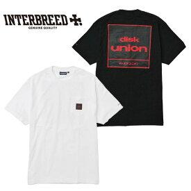インターブリード INTERBREED Tシャツ GENERALLY SS POCKET TEE ディスクユニオン コラボ 黒/白 M-2XL IB19SS-01 ストリート