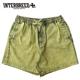INTERBREED インターブリード ショーツ Chemical Washed Color Denim Shorts デニム オリーブ M-L IB19SS-40 ストリート